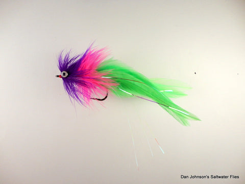 Deep Silhouette - Purple Hot Pink Chartreuse  IN197A