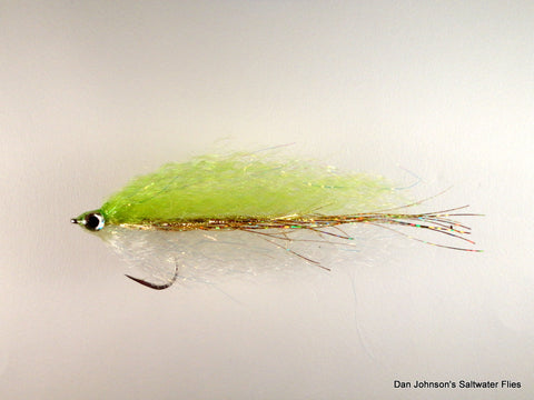 Bunker Fly - Chartreuse Gold White NES34