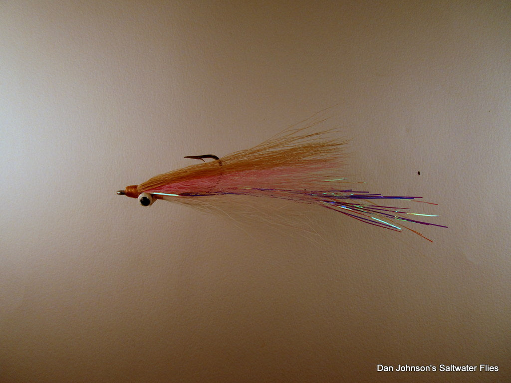 Striper Clouser - Tan Pink White NES73