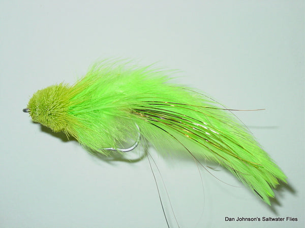 Pusherhead Shark Fly - Chartreuse  GS035