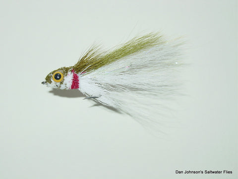 Rattle Mullet - Olive White  GS001C