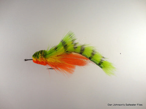Pusherhead Pike Bunny - Yellow Perch WW012