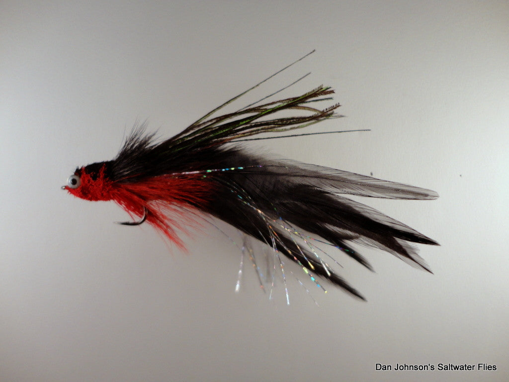 Flat Nose Andino Deceiver - Red Black, Hackle IF186A