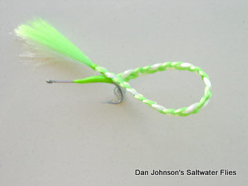 Braided Barracuda - Chartreuse White  GS015