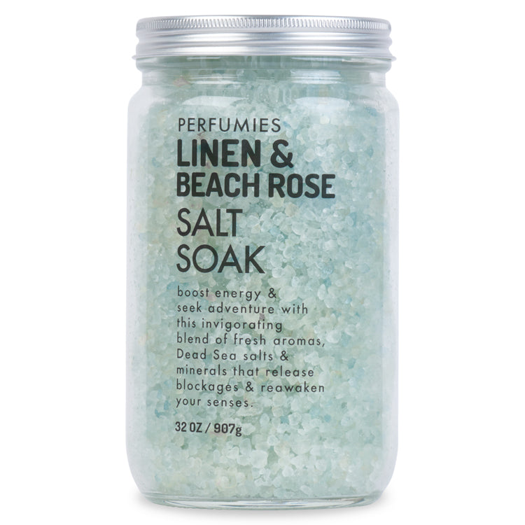 Linen & Beach Rose Salt Soak Packette