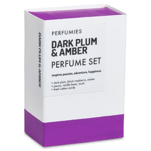 Dark Plum & Amber Perfume Set No. 01