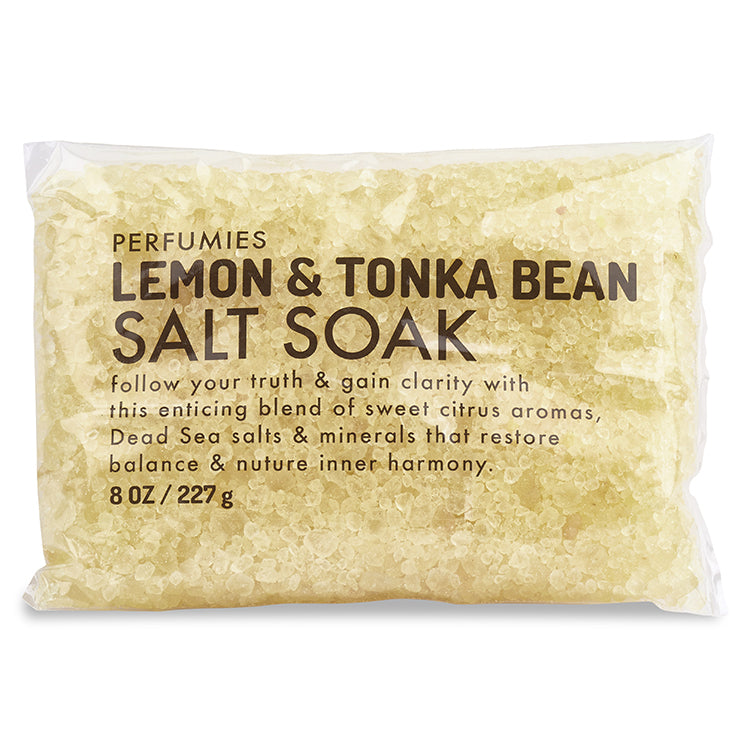Lemon & Tonka Bean Salt Soak