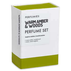 Warm Amber & Woods Perfume Set | No. 04