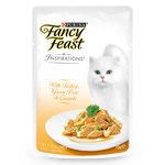Fancy Feast Inspirations Turkey Peas And Carrot Pouch 70g Packs of 6
