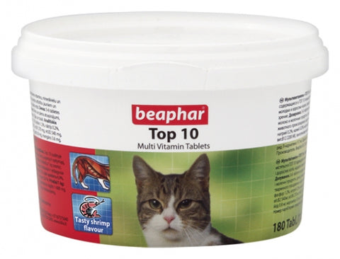 Beaphar Top 10 Multi Vitamin Tablets for Cats 180 tabs