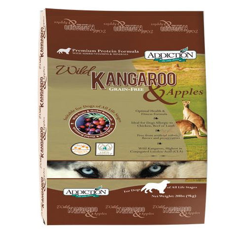 Addiction Dog Wild Kangaroo & Apples 20lbs
