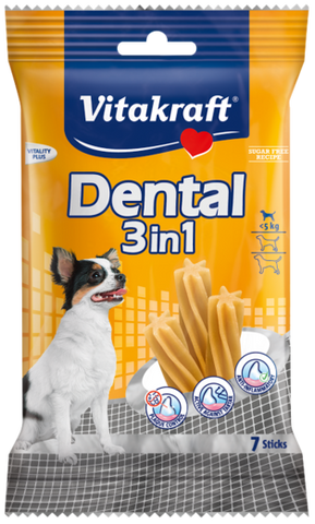 Vitakraft 3 in 1 Original Dental Chew - Small Size