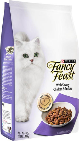 Fancy Feast Gourmet Cat Food With Savory Chicken & Turkey Dry Cat Food