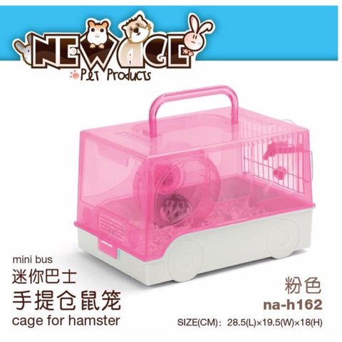 New Age Mini Bus Hamster Cage -Pink
