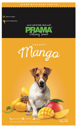 3 Packs of Prama Delicacy Snack Creamy Mango 70g