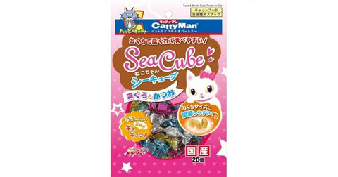 CattyMan Sea Cube Tuna & Bonito Flavored Treats For Cat 20pcs