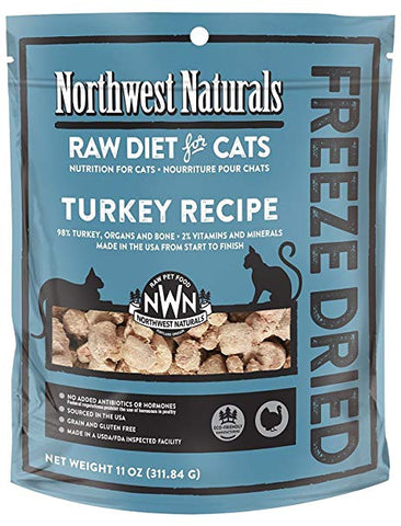 Northwest Naturals Freeze Dried Nibbles for Cats - Turkey 11 oz