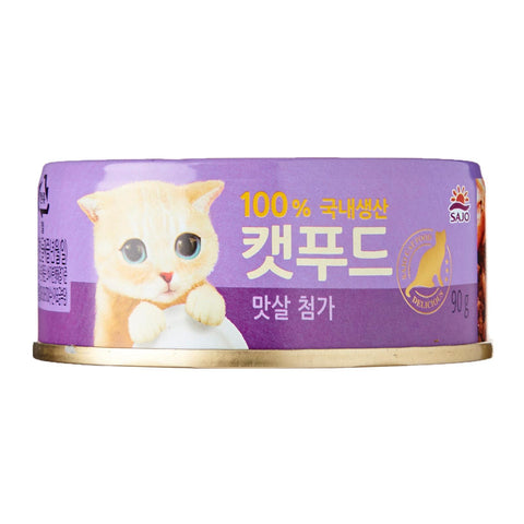 Sajo Tuna with Crab Cat Canned Food 90g x 6 Cans