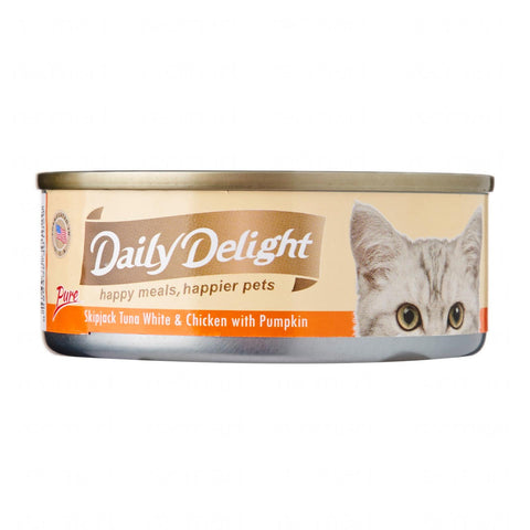 Daily Delight Skipjack Tuna White & Chicken with Pumpkin 80g x24