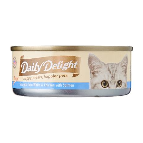 Daily Delight Skipjack Tuna White & Chicken with Salmon 80g x24