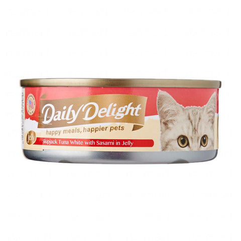 Daily Delight Skipjack Tuna White with Sasami in Jelly 80g x24