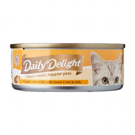 Daily Delight Skipjack Tuna White with Sweet Corn in Jelly 80g x24