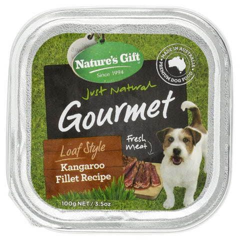 Natures Gift Kangaroo FIllet Dog Tray 100g 12pcs