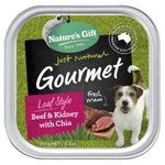 Natures Gift Beef & Kidney with Chia Dog Tray 100g x12