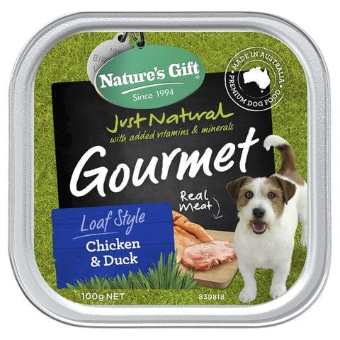 Natures Gift Chicken & Duck Dog Tray 100g x12