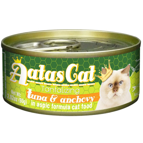 Aatas Cat Tantalizing Tuna & Anchovy 80g 24 Cans