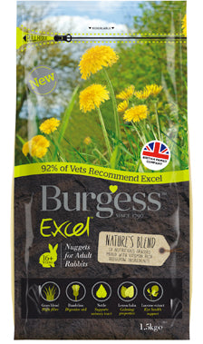 BURGESS EXCEL NATURE'S BLEND FOR ADULT RABBITS 1.5KG