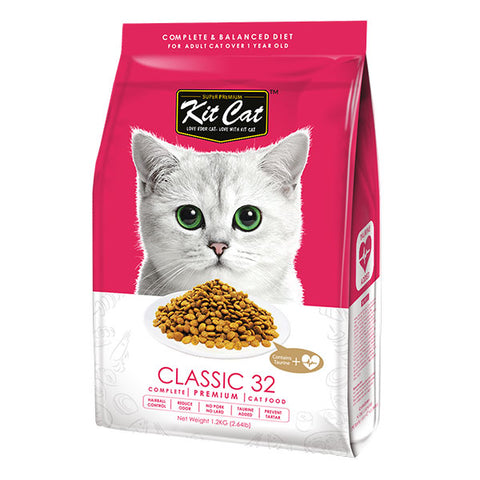 Kit Cat Premium Cat Food Classic 32 1.2kg