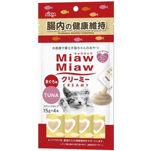 Aixia Miaw Miaw Creamy Tuna - Healthy Intestines 15g x 4 Cat Treat