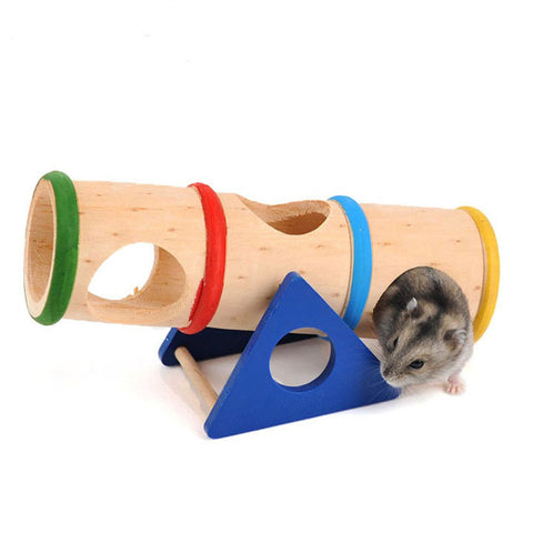 Carno Hamster See-Saw Wooden Barrel