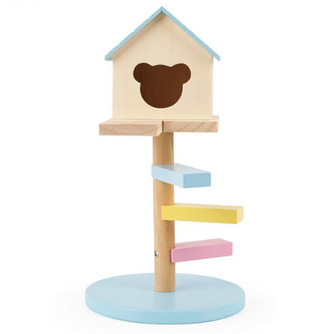 Carno Wooden Toy House with Step Ladder for Hamsters