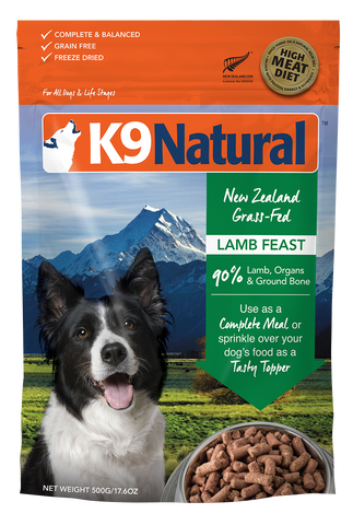 K9 Natural Dog Freeze Dried Lamb 500g