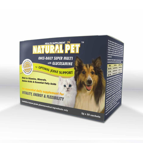 Natural Pet - Super Multi with Glucosamine 3g x 30 sachets powder