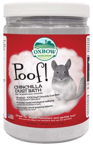 Oxbow Poof Chinchilla Dust Bath Sand 1.13kg