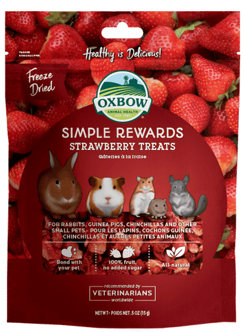 Oxbow Simple Rewards Strawberry Treats 15g