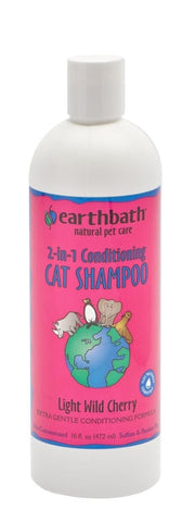 Earthbath 2-in-1 Conditioning Cat Shampoo 16oz