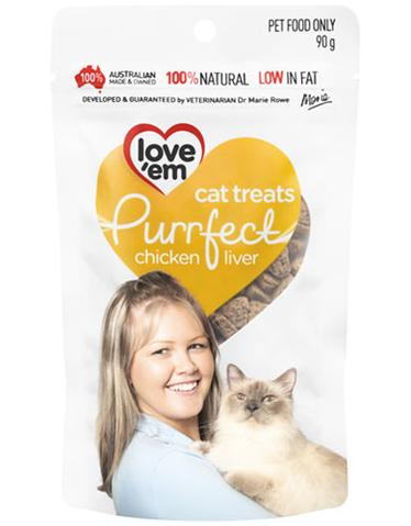 Love 'em Purrfect Chicken Liver Treats 90g