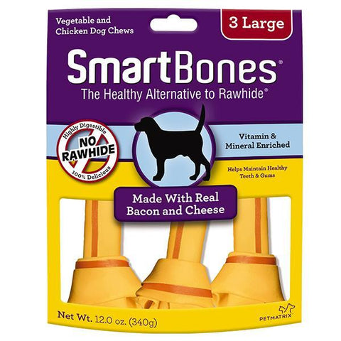 SmartBones Bacon & Cheese Case  Classic Bone Chews Large 3s