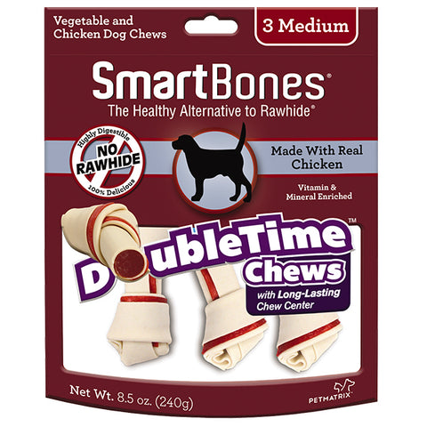 SmartBones Medium DoubleTime Chicken Medium Chews 3s