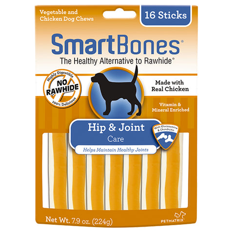 SmartBones Hip & Joint Care Chicken Chews 16s