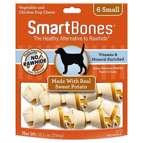SmartBones Sweet Potato Classic Bone Chews Small 6s