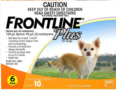 Frontline Plus for Dogs Below 10kg