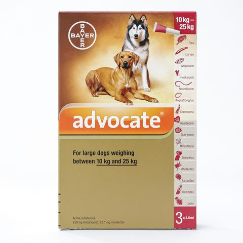 Bayer Advocate Flea and Heartworm Treatment for Dogs (10 - 25kg)