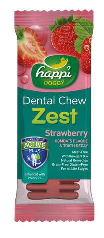 Happi Doggy Dental Chew Strawberry 25gx10