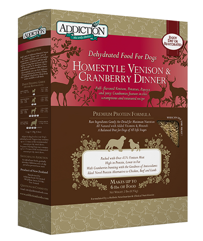 Addiction Homestyle Venison & Cranberry Dinner 2lbs