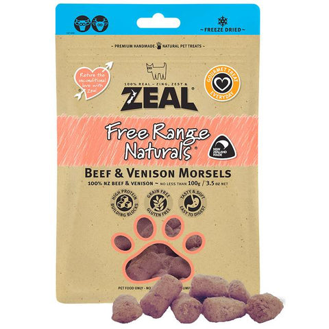 Zeal Freeze Dried Beef & Venison for Cats 100g